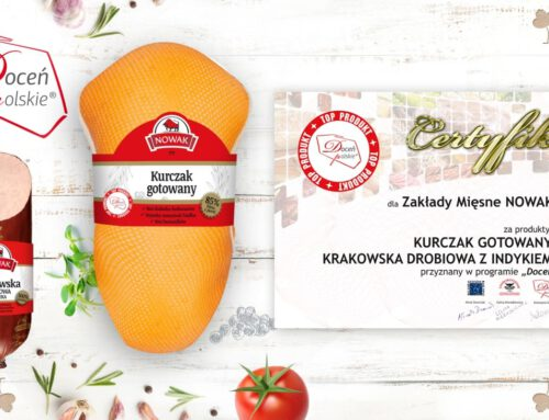 """Krakowska drobiowa zindyka ikurczak gotowany otrzymały certyfikat """"Doceń polskie"""""""